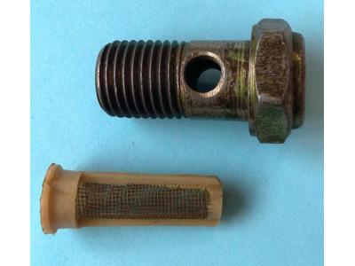 Болт пустотелый М14 с фильтр-сеткой (штуцер топливный) H HOWO (ХОВО) 90003962612 фото 1 Петрозаводск